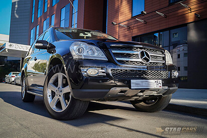 Прокат черного Mercedes-Benz GL500 в Новосибирске