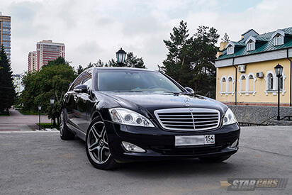 Прокат черного Mercedes-Benz S-class w221 Long в Новосибирске